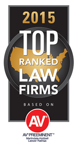 2015 Top Ranked Law Firm by AV Preeemnent
